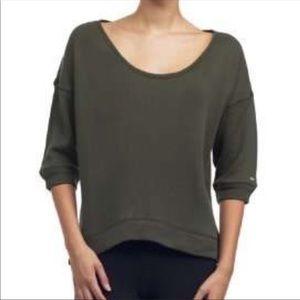 NWT ALO M short sleeve sweatshirt granite